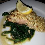 Another shot of my EPIC feta crusted Salmon.