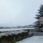 Blick vom Appartement in Parterre (nach Neuschneefall)