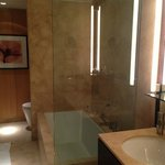 Bath with separate shower and tub.