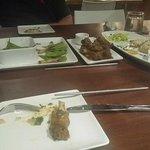 Edamame,Tempura Shrimp Lettuce Wraps, CocoMaya House Ribs, Lobster