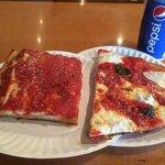 1 Slice Granpa Pie, 1 slice Margherita & a Fruit Punch in a Pepsi cup
