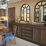"Dining area in suite, the ""buffet"" can be used as a dresser and put her clothing in it."