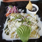 Green Squash Blossom Enchilada from LaRoca at breakfast