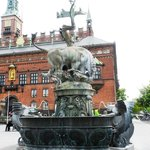 Town Hall and Dragon Fountain