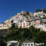 View of the Positano hillside from the balcony