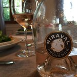 Very good wine selection to dinner! This was from Provence,rose wine by Brad Pitt and Angelina J