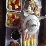 El desayuno muy rico!