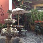 courtyard near the front desk