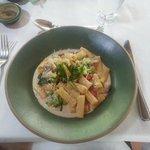 Rigatoni com vegetais delicioso!