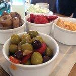 Vegetarian platter to share