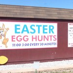 Easter Egg Hunts Milburn Orchards Sign