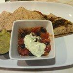 Awesome whole grain black bean quesadilla!