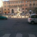 Looking out of the hotel onto Piazza Barbarini