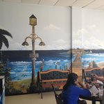 Inside Wall Mural at M&M Fish and Chips