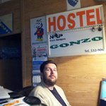 "reception at hostel ""Gonzo"""