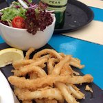 Chilli squid - no chilli and deep fried vs grilled.  Under described in menu and salad was mushy