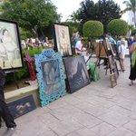 the art walk, shops and restaurants