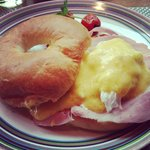 Eggs Benedict, amazing breakfast started my day.