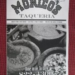 Monicos menu cover