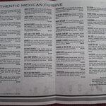 Monicos menu inside
