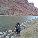 Enjoying the river.