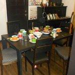 la mesa del desayuno, espectacular