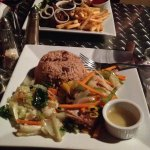 Mongoose - fish and jerk chicken