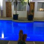 La piscina..... un merecido descanso