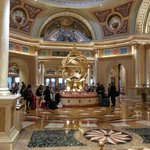 The lobby of the Venetian