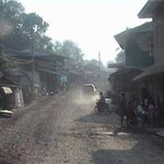 Dusty streets of Pakbeng.