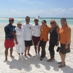 my wife and I with some of the El Dorado Maroma family