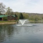 Lake and fountain at Coonskin Park