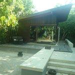 The beach villa with private access to beach..