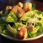 Caesar salad with dressing on the side. This is one place that didn't waste dressing!