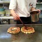 Final touch to our Okonomiyaki