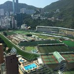 View of happy valley from the lift corridor on the swimming pool level
