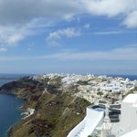 View of Oia from Captain John Traditional House