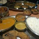 Delicious fish thali