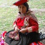 Lady knitting hats