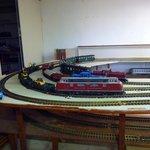 la voie de garage des trains