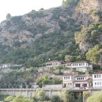 Вид на гору с крепостью
