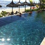 piscineà débordement, plage