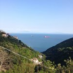 View on the Amalfi coast from the agritourism