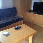 tv and sofa