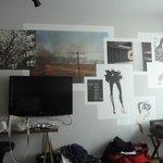 Wallposters in bedroom