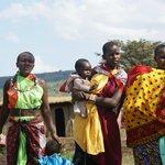In a Masai village
