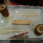 poulet au foie gras et supreme d'oignons