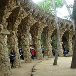 One of the structures at Parc Guell