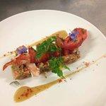 Homard poché, taboulé au quinoa Carte Hiver 2014