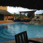 pool water fall